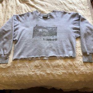 Vintage Cropped Timberland Sweatshirt